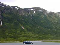 Portion of Turnagain Pass seen from a parking area off of the Seward Highway.