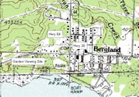 Vicinity map for Bergland Native Plant and Pollinator Garden.