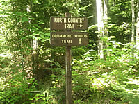 Drummond Woods trail signs