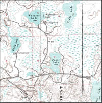 Wabasso Lake location map.