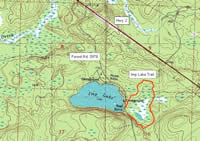 Imp Lake trail: topographic map.