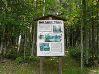 Imp Lake trailhead sign.