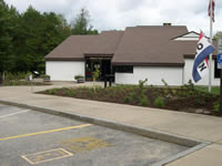 Main Ranger Station entrance and new viewing gardens.