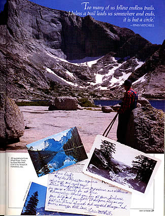 Finis Mitchell article in Outdoors Magazine, summer 1987.