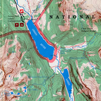 Map of the Green River Lakes area, Bridger-Teton National Forest.