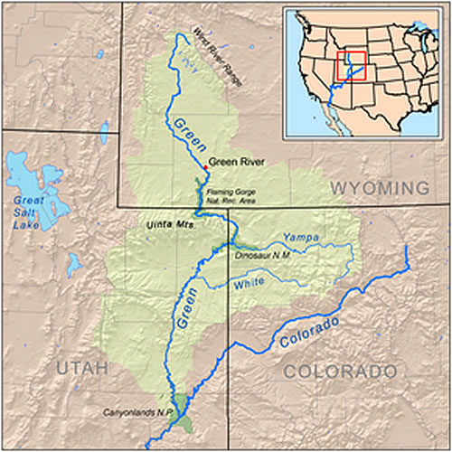 Map Of The Green River