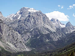View of the alpine landscape.