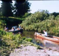 canoeists on the Clearwater Canoe Trail.