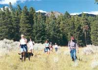 hikers in the Elkhorns.