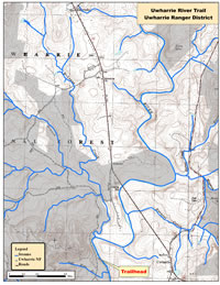 Uwharrie River Trail Map.