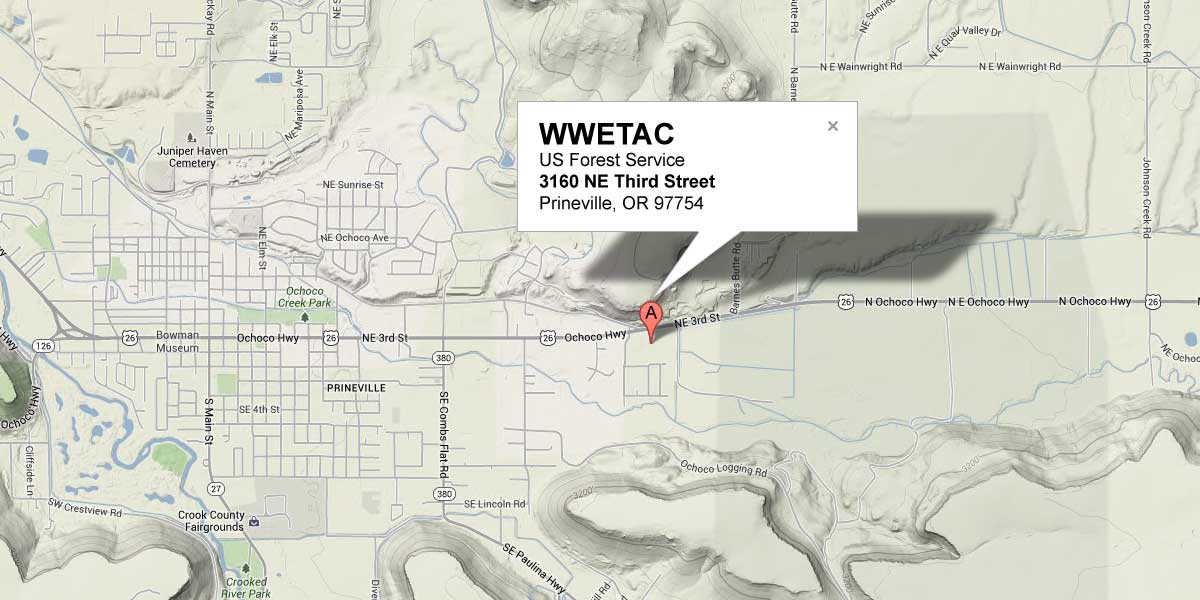 Location of WWETAC on Map